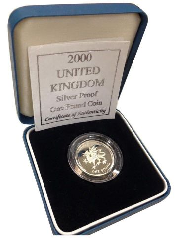 2000 Silver Proof One Pound Coin